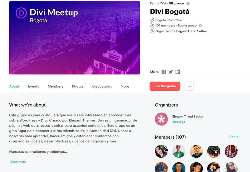 Organizadores del DIVI Meetup Network en Colombia 1