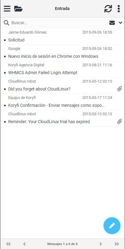 Novedades en PHP y Webmail optimizado para Móviles 2